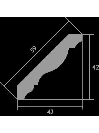 Потолочный плинтус (карниз) Ultrawood CR 0019