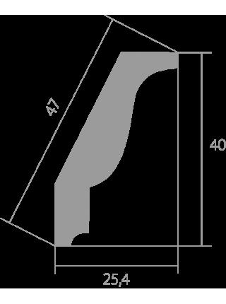 Потолочный плинтус (карниз) Ultrawood CR 0025