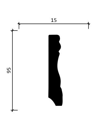 153A  (95 мм/ 15 мм)