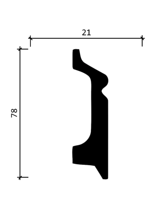 DD122  (78 мм/ 21 мм)