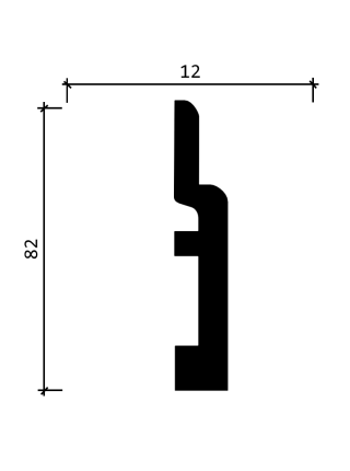 DD703  (80 мм/ 12 мм)