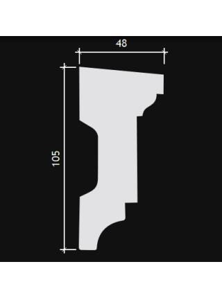 4.82.101 Подоконный элемент (105мм/48мм)