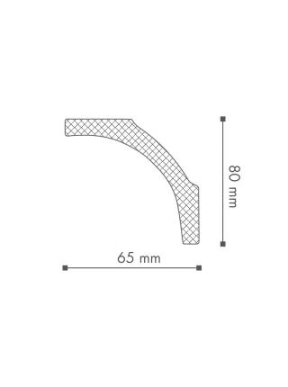 Потолочный плинтус (карниз) NMC B1