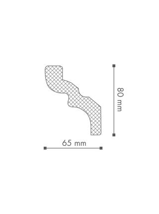 Потолочный плинтус (карниз) NMC C (LX-105)