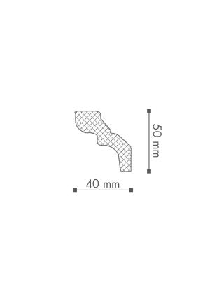 Потолочный плинтус (карниз) NMC D (LX-52)