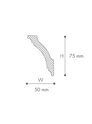 Потолочный плинтус (карниз) NMC GK (LX-73)