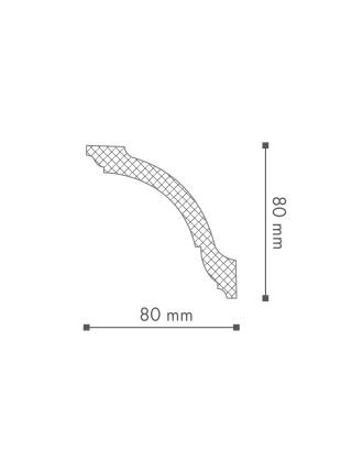 Потолочный плинтус (карниз) NMC GO (LX-115)