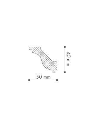 Потолочный плинтус (карниз) NMC H (LX-46)