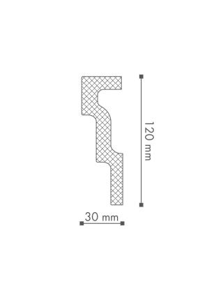 Потолочный плинтус (карниз) NMC M1