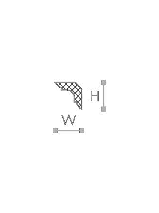 Потолочный плинтус (карниз) NMC MB (LX-23)