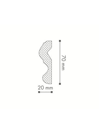 Потолочный плинтус (карниз) NMC N (LX-70)