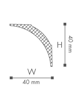 Потолочный плинтус (карниз) NMC NE1