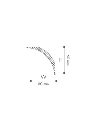 Потолочный плинтус (карниз) NMC NE2