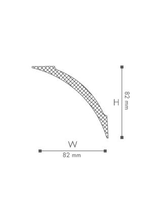 Потолочный плинтус (карниз) NMC NE3