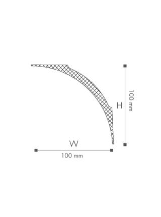 Потолочный плинтус (карниз) NMC NE4