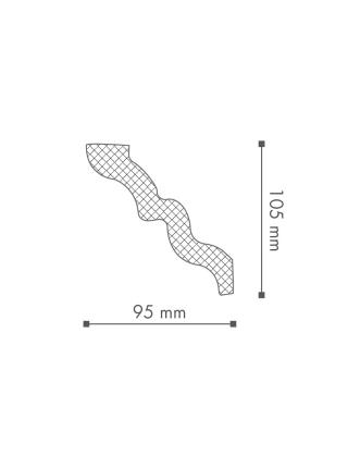 Потолочный плинтус (карниз) NMC SM