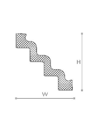 Потолочный плинтус (карниз) NMC ST4