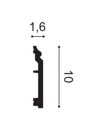 SX173 ( 100мм/16 мм) Плинтус напольный