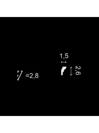 Потолочный плинтус (карниз) OracDecor CX111