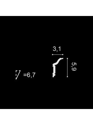 Потолочный плинтус (карниз) OracDecor CX141