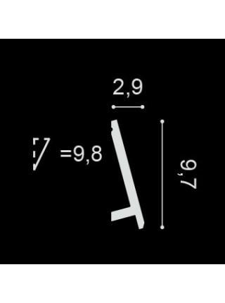 SX179( 97мм/29 мм) Плинтус напольный
