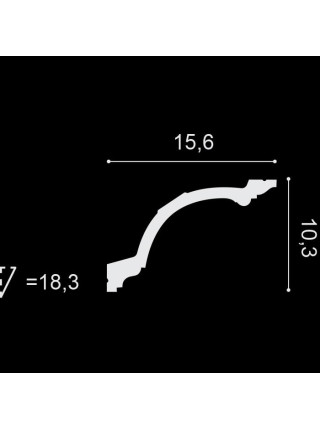 Потолочный плинтус (карниз) OracDecor C217