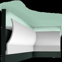 Потолочный плинтус (карниз) OracDecor C372 Fluxus
