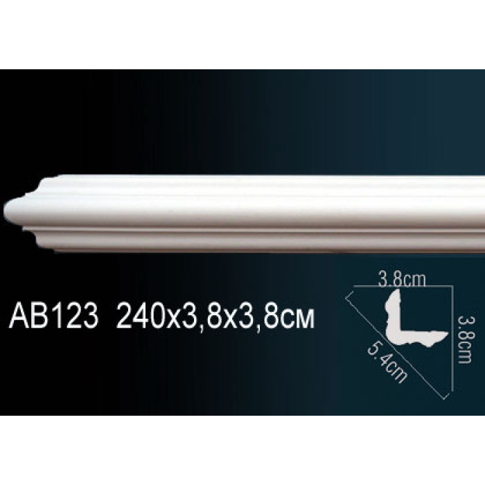 Потолочный плинтус (карниз) Perfect® AB123