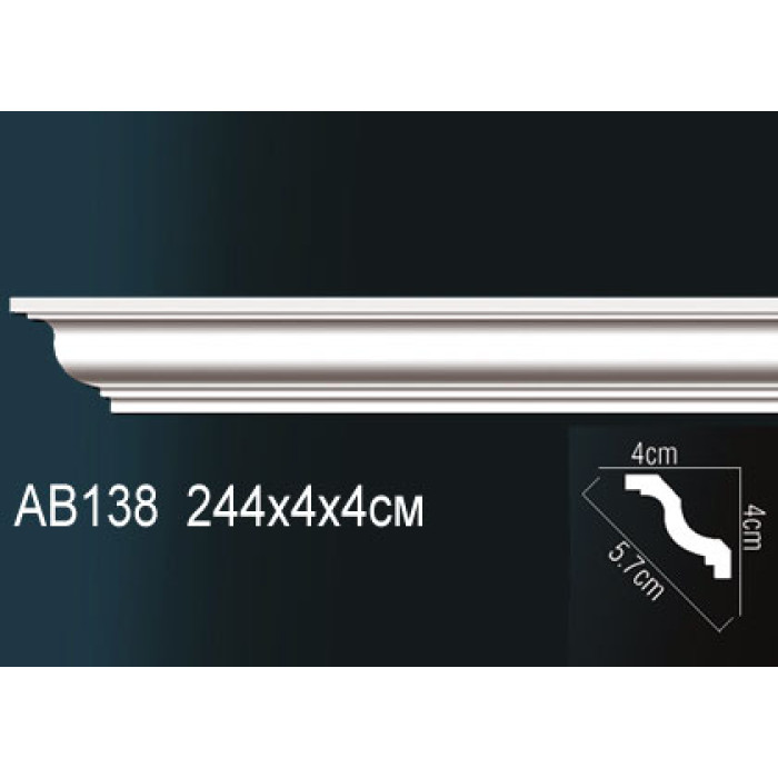 Потолочный плинтус (карниз) Perfect® AB138