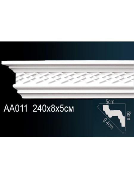 AA011 потолочный плинтус Perfect  ( 81 мм/52 мм )