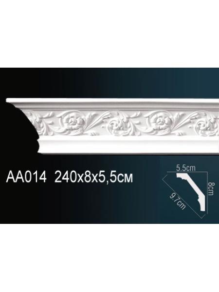 AA014 потолочный плинтус Perfect  ( 80 мм/55 мм )