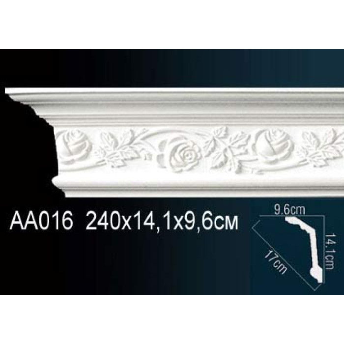 Потолочный плинтус (карниз) Perfect® AA016