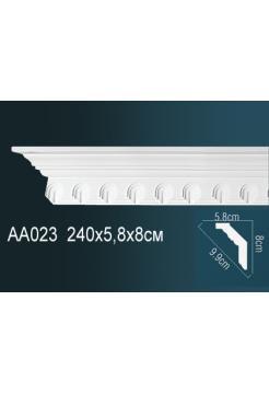 AA023 потолочный плинтус Perfect  ( 81 мм/59 мм )