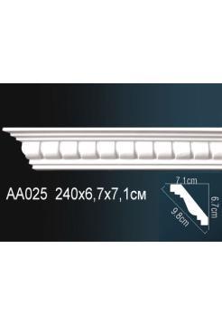 AA025 потолочный плинтус Perfect  ( 67 мм/71 мм )