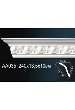 AA035 потолочный плинтус Perfect  ( 135 мм/100 мм )