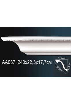 AA037 потолочный плинтус Perfect  ( 177 мм/223 мм )