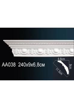 AA038 потолочный плинтус Perfect  ( 90 мм/68 мм )