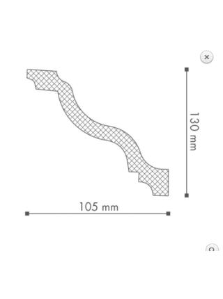 Потолочный плинтус (карниз) NMC WT11