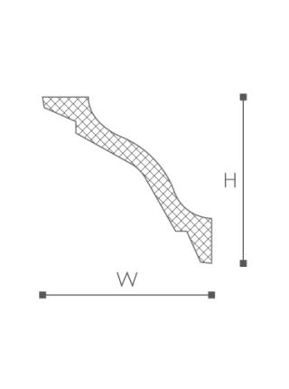 Потолочный плинтус (карниз) NMC WT26