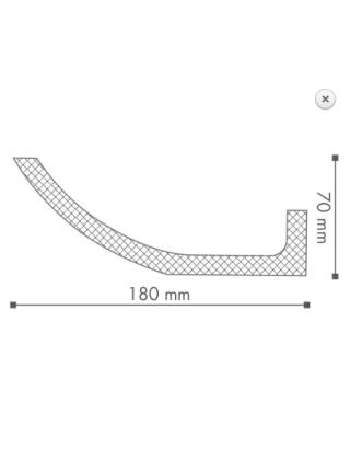 Потолочный плинтус (карниз) NMC WT4