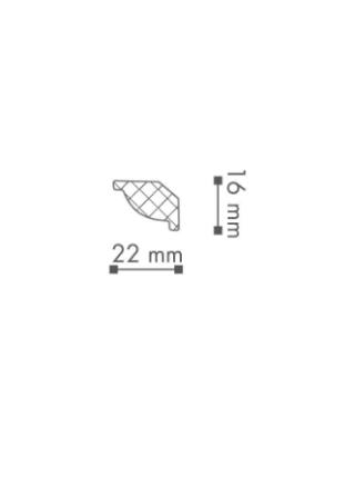 Потолочный плинтус (карниз) NMC WT7