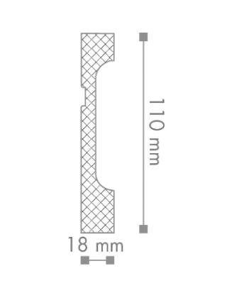 FD11 Плинтус напольный NMC
